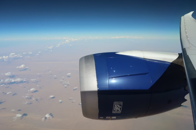 BRITISH AIRWAYS B787: FLYING OVER EGYPT