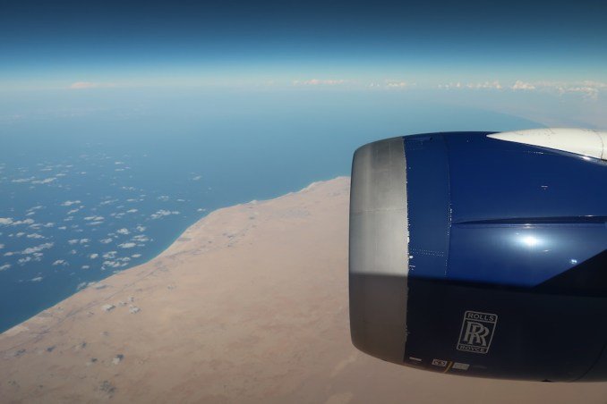 BRITISH AIRWAYS B787: LEAVING EGYPT