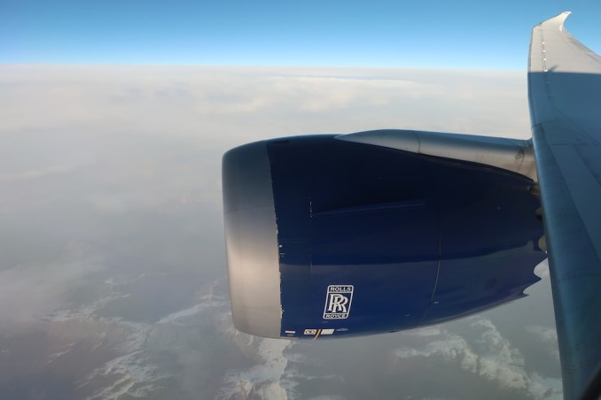 BRITISH AIRWAYS B787: FLYING OVER MACEDONIA