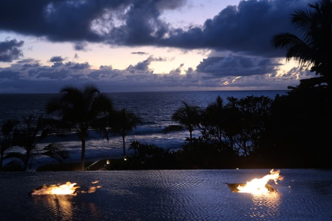 MAIA RESORT SEYCHELLES AT NIGHT