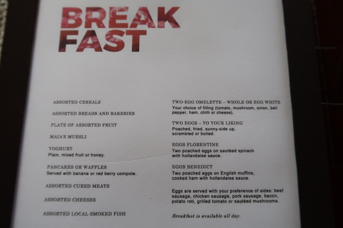 MAIA RESORT SEYCHELLES: BREAKFAST