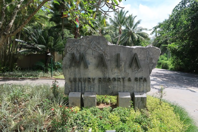 MAIA RESORT SEYCHELLES: ENTRANCE