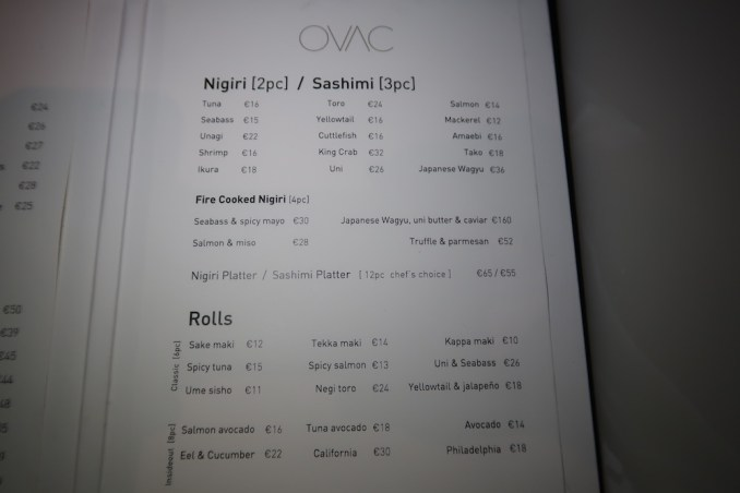 CAVO TAGOO MYKONOS: DINNER (MENU)