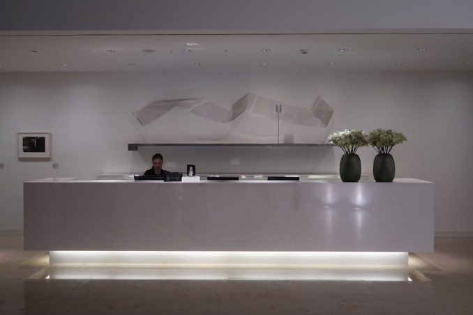 THE DOLDER GRAND: SPA - RECEPTION AREA