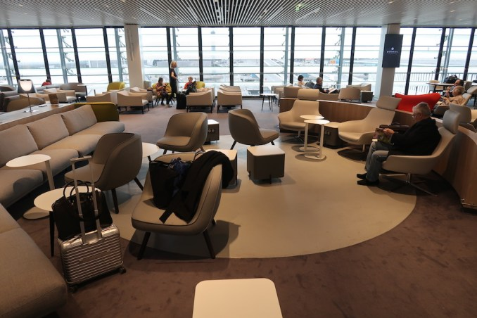 AIR FRANCE LOUNGE AT PARIS CDG AIRPORT