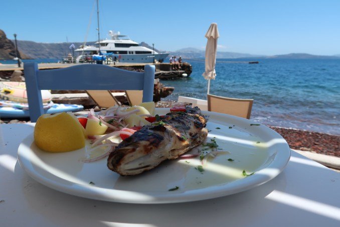 SANTORINI: LUNCH AT ARMENI RESTAURANT