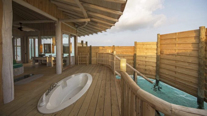 SONEVA JANI, MALDIVES hotel bathroom