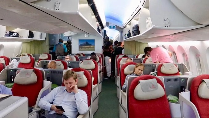 ETHIOPIAN AIRLINES B787 BUSINESS CLASS CABIN