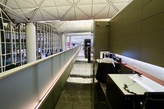 THE WING FIRST CLASS LOUNGE AT HONG KONG AIRPORT
