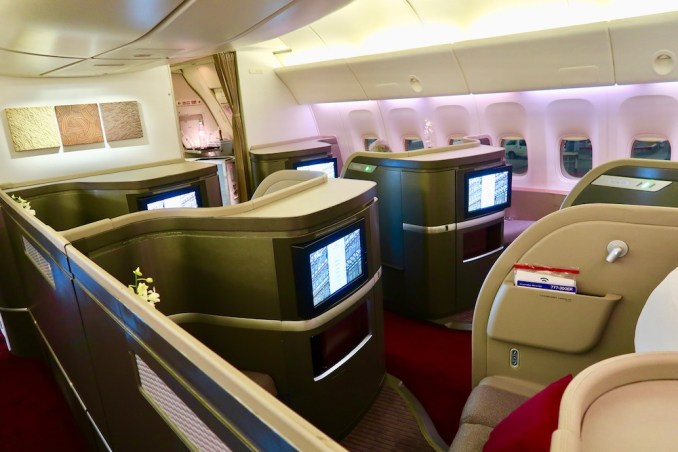 CATHAY PACIFIC B777 FIRST CLASS CABIN