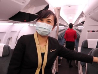 review cathay dragon A320 business class
