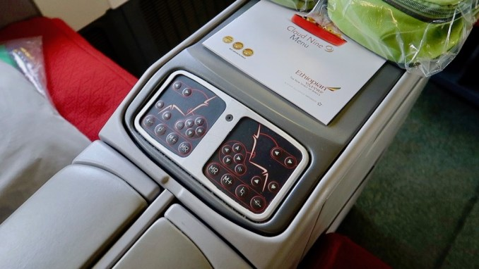 ETHIOPIAN AIRLINES B777 BUSINESS CLASS SEAT
