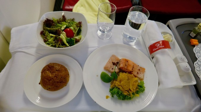 ETHIOPIAN AIRLINES BUSINESS CLASS LUNCH