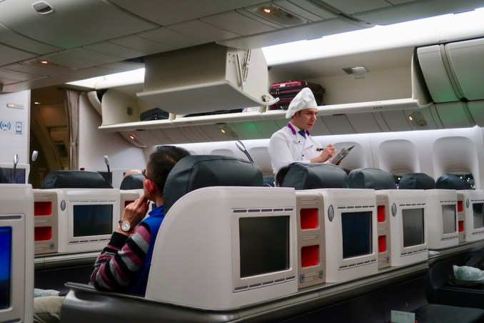 TURKISH AIRLINES BUSINESS CLASS: FLYING CHEF
