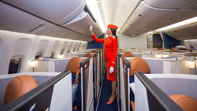 aeroflot Boeing 777 business class