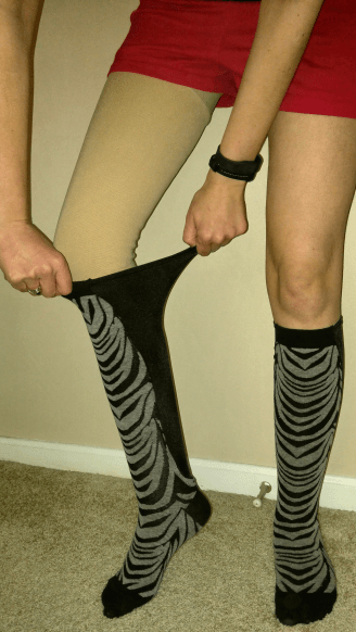 Xpandasox® stretch 24+ inches around the calf.