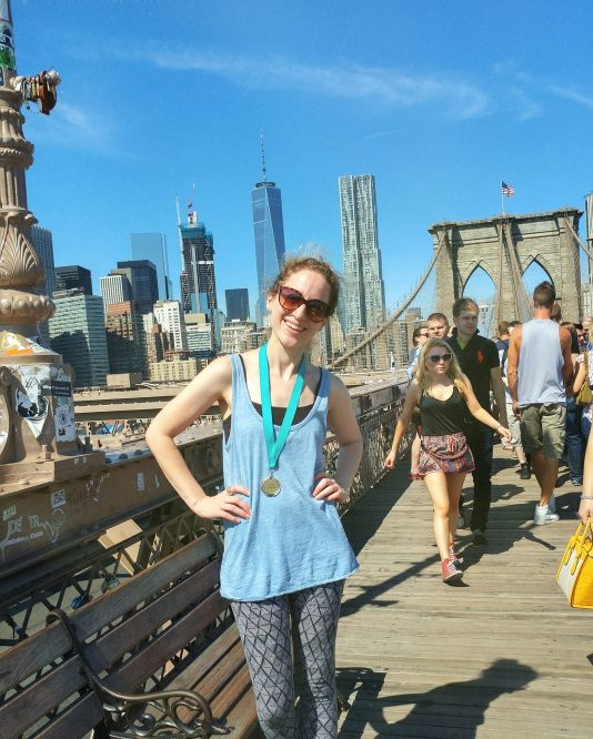 Smiling big on the bridge!