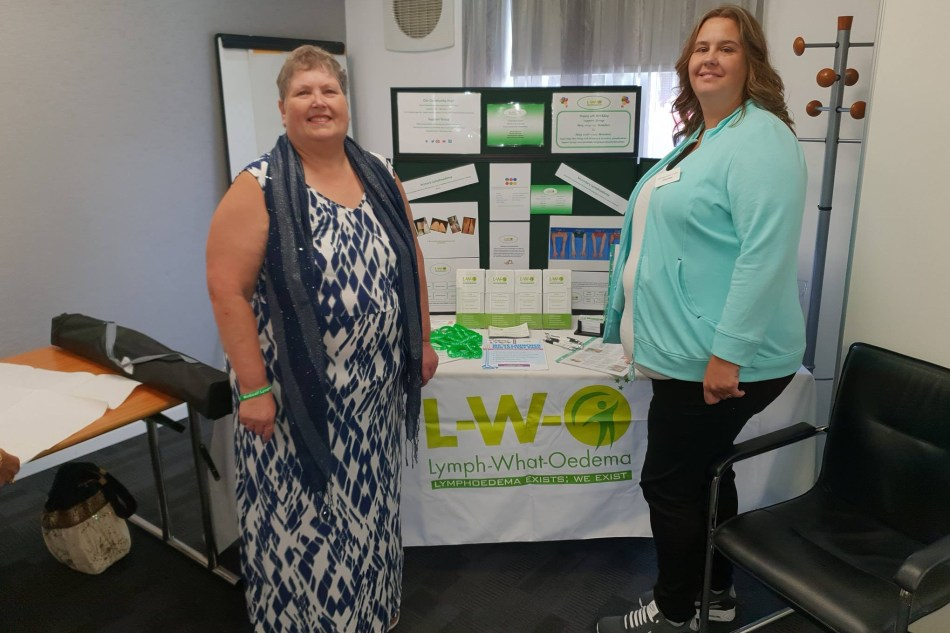 Gaynor Leech and daughter-in-law Michelle Leech at a local Health and Wellbeing Event for people affected by cancer in Nuneaton.