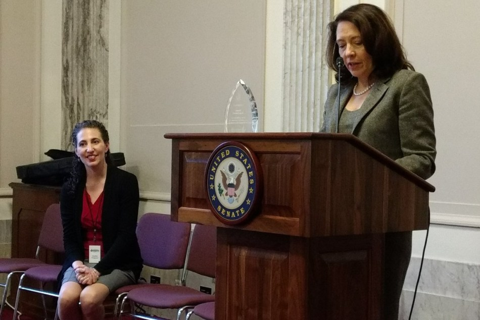 Heather Ferguson and Senator Maria Cantwell (D-Washington).