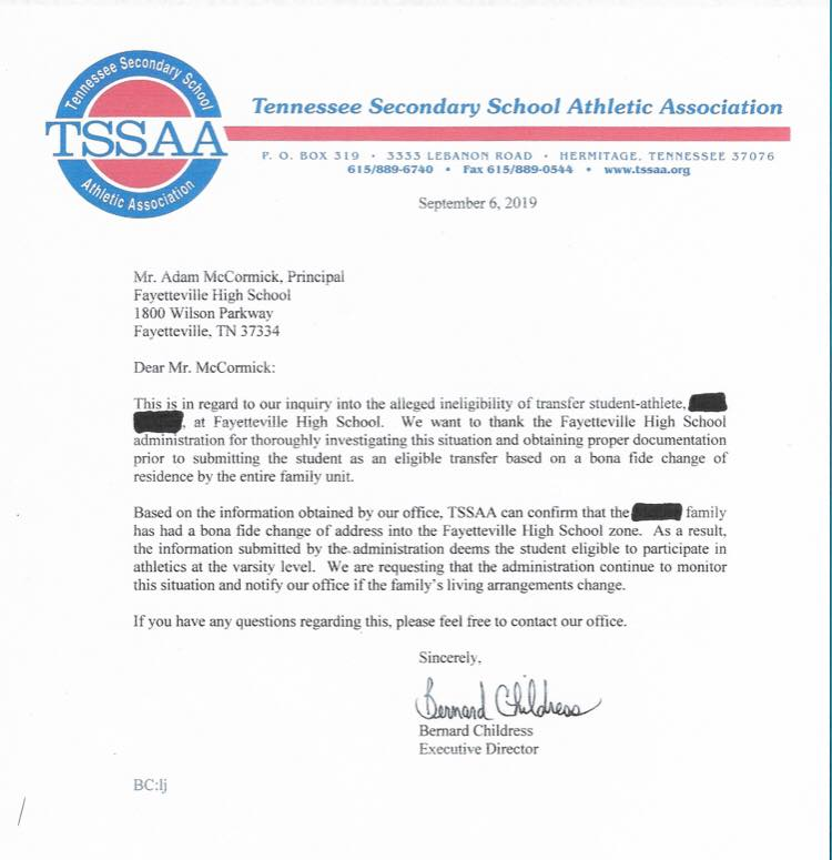 TSSAA force Fayetteville City to forfeit six games