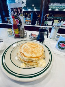 pancakes at the Sundrop Shoppe and Luncheonette