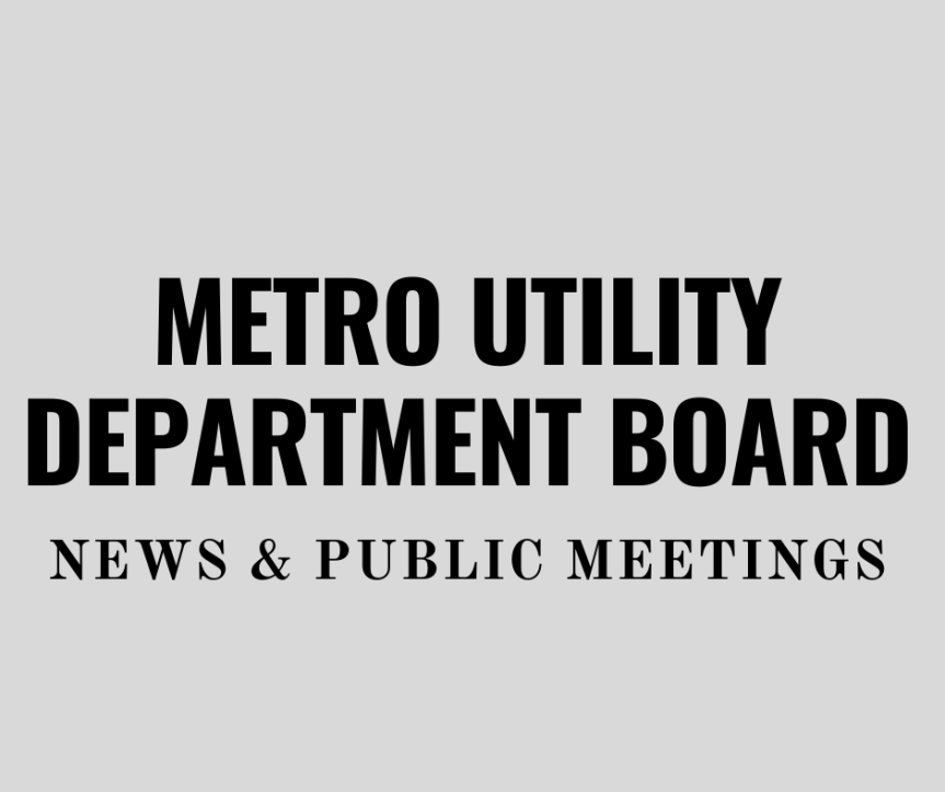 Metro Utility Board meets on June 9