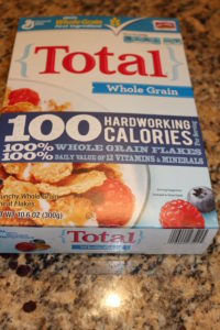 "Total ... ""100% whole grain flakes"" on the front..."