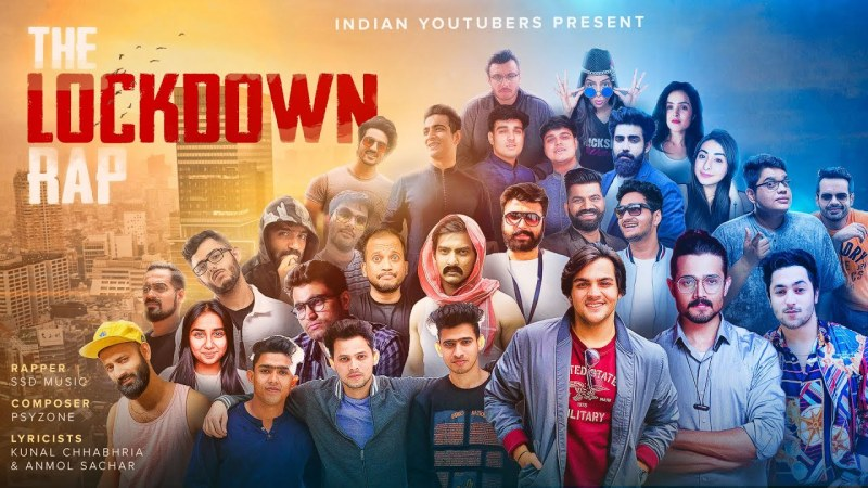 THE LOCKDOWN RAP LYRICS - INDIAN YOUTUBERS