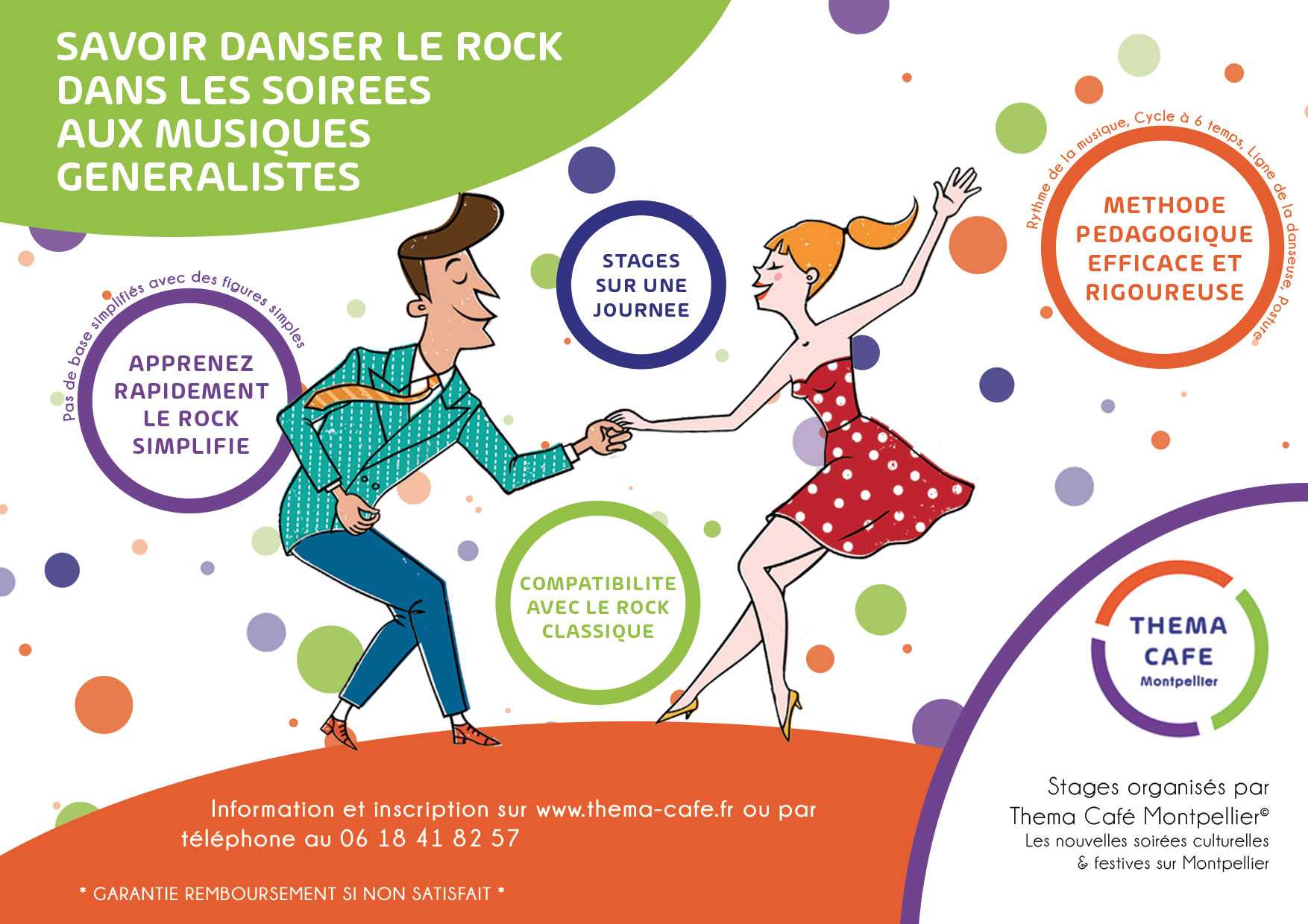 Flyer cours de rock THEMACAFE MONTPELLIER