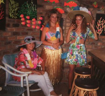 My 18th, Hawaiian themed birthday party (with Mom and Soo).