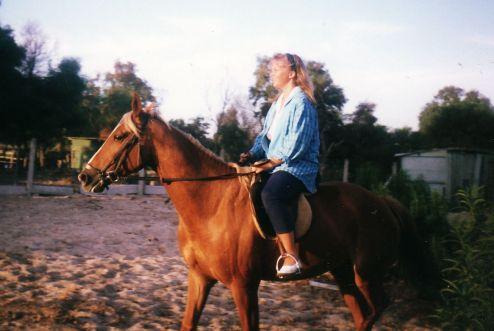 Riding Uncle John's horse (Cape Town).