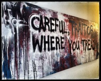 Traitor painting again (it's created on the back of an old door)...