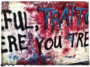 Traitor painting (words from a poem I wrote for Starry Night)...