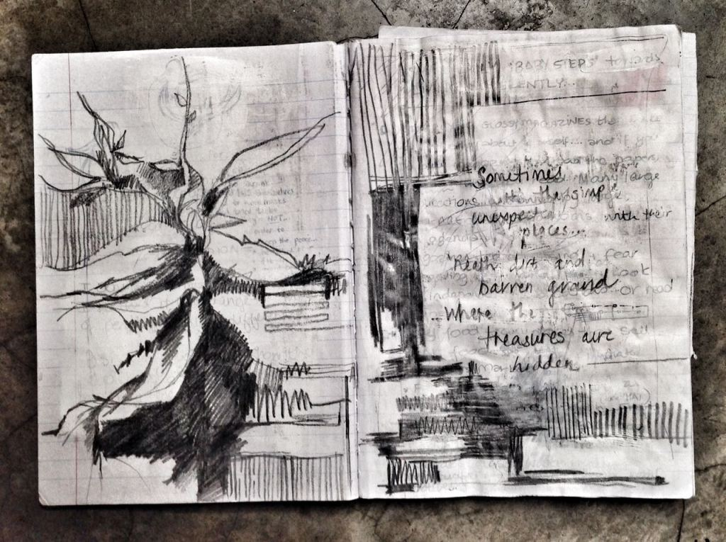 Then I began making an art-book / journal... and poems began to flow...