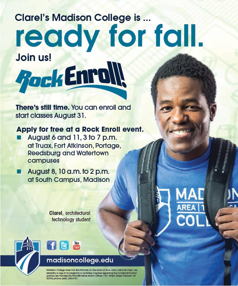 clarels-madison-college-rock-enroll-event