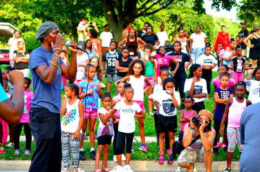 "Madison residents gather in ""Hands Off Brandi"" protest to speak out on police surveillance of Brandi Grayson, a leader for the Young, Gifted, & Black Coalition and the local Black Lives Matter movement. Picture by Michael Matheson."