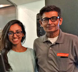 Amin Shaikh, owner, and his daughter and current employee, Amna Shaikh.