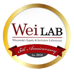 wei-lab-wisconsin-equity-inclusion-laboratory-5th-anniversary-logo-seal