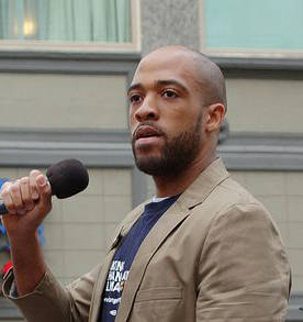 Rep. Mandela Barnes, shown above speaking at a 2013 labor rally. SEIU Local 1 (CC-BY)