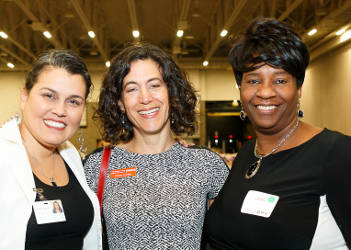 Ananda Mirilli, YWCA CEO Rachel Krinksy, and YWCA board member Jacquelyn Hunt. Photo Courtesy of Hedi Rudd