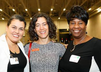 Ananda Mirilli, YWCA CEO Rachel Krinksy, and YWCA board member Jacquelyn Hunt. Photo Courtesy of Hedi Rudd