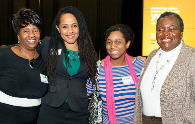 Jacquelyn Hunt, Lisa Peyton-Caire, Dr. Jasmine Zapata, and Cassandra Smoot-Sonko. Photo Courtesy of Hedi Rud