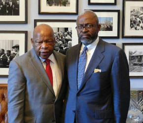 John Lewis with Richard Dickerson