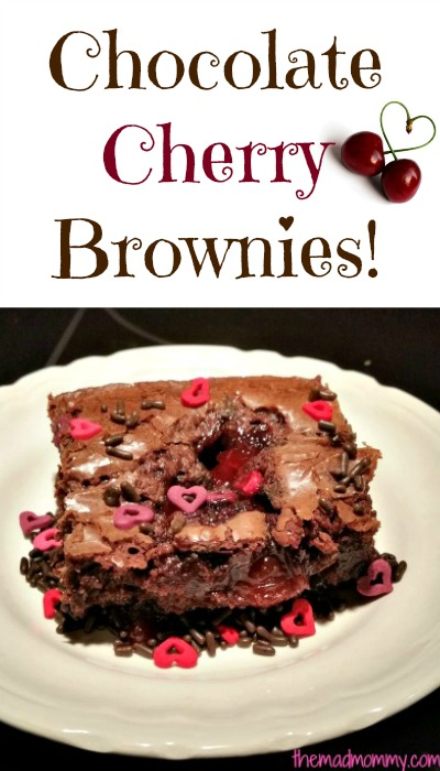 These Chocolate Cherry Brownies are the perfect dessert for your Valentine or the perfect treat for yourself!