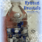 Frozen Fractals Sensory Bottle!