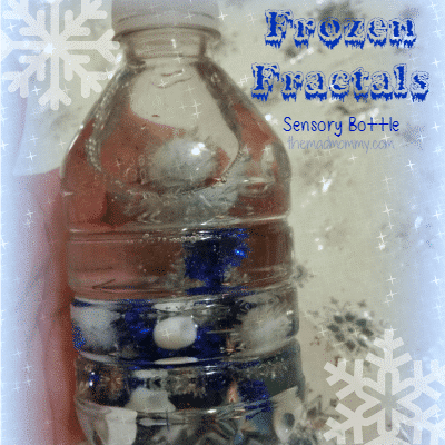 Frozen Sensory Bottle themamommy.com