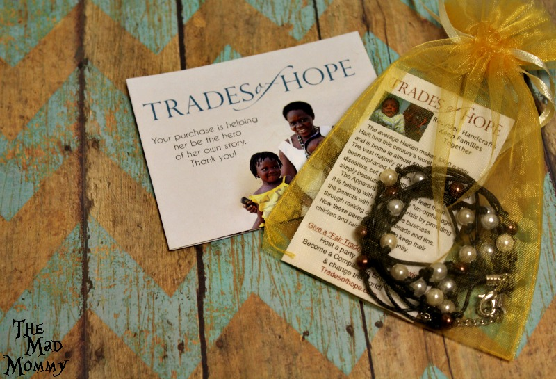 A beautiful, handmade Cambodia Pearl Bracelet from Trades of Hope that was made by a survivor of acid attacks in Cambodia.
