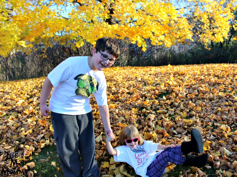 Falling into autumn in their apericots t-shirts!
