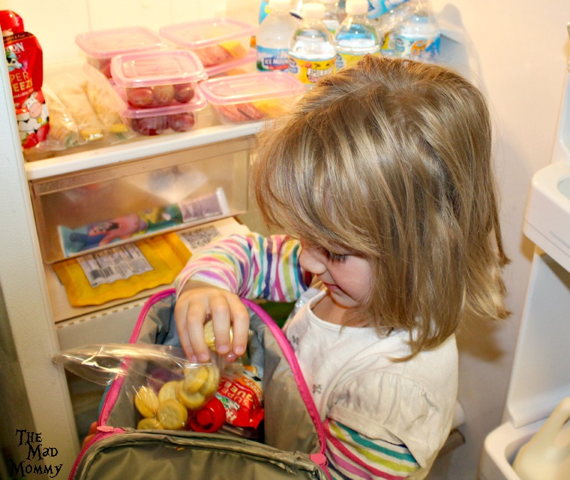 My 4 year old packing her own lunch with the new #HorizonLunch options! #ad #CollectiveBias