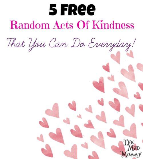 Showing kindness can be easier than you think. Here are 5 free random acts of kindness that you can do everyday!